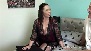 Samantha is a dark haired plumper who likes to fuck, even while her husband is at work