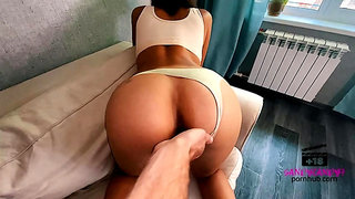 doggy style screw with hot bitch and cumshot in her mouth (4K)