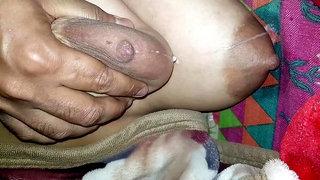 Pressing The Breast Tits Tits Nipples Milk 35
