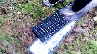 Lady L crush keyboard with Leopard high heels