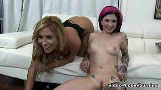 Horny pornstars Joanna Angel, Tasha Reign in Incredible Tattoos, Emo xxx clip
