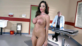 Whore Ariella Ferrera brought to the hospital to be cleaned up before she goes to jail