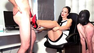 Fetish Liza Office Shoejob