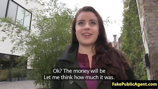 Fooled bigtitted european jizzed by fake agent