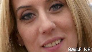 Sexual blonde sweetie Gianna Foxxx gets cuch filled