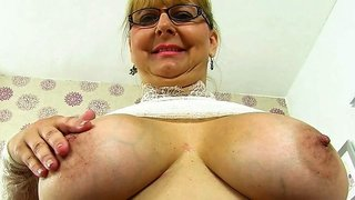 English milf Alexa looks delicious in her see-through outfit