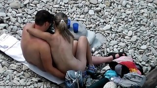 arousing couple on holiday