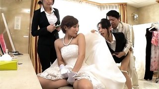 Sultry babe with a perky ass gets fucked by the bridegroom