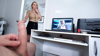 Very sweet blonde babe Alix Lynx penetrated from behind
