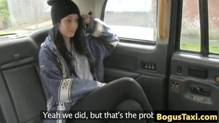 Taxi babe creampied by cabbie