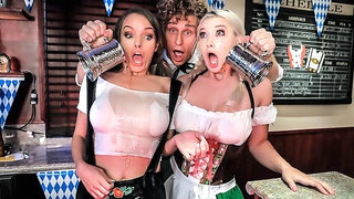 Leather pants, sausages, and big jugs... no wonder Oktoberfest is the best holiday of the year!