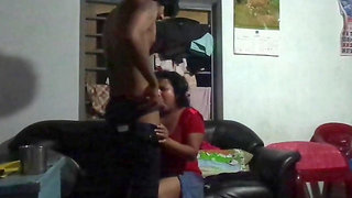 Srilankan Aunty hottie banged by blackmailer young boy
