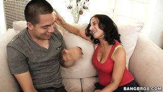 Taking the ultimate cougar Melissa Monet home for some NSA banging