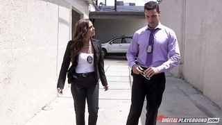 During an interview a detective gets blown by a witness