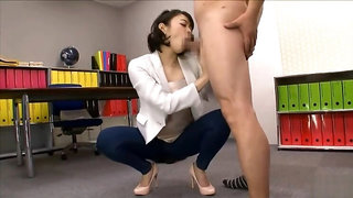 Pleasing dusky Japanese whore has been gangbanged