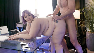 BBW loves huge inches of dick ramming her ass
