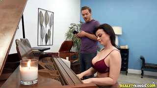 Piano teacher Nadia White gets fucked by lucky student