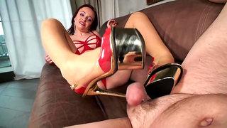 Shoepussy Creampied - Shoejob - Cum in Heels