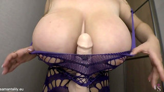 Samanta Lily - Dancing & Tittyfucking dildo - monster boobs