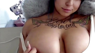 NinjaKitty - Tatted Latina Goth with Thick Globes