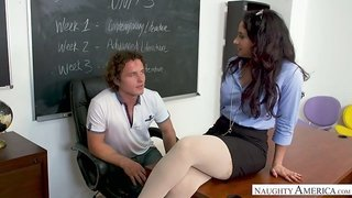 Zealous Sheena Ryder is actually a wild tutor who loves riding dick on desk
