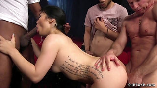 Adult theater grop hardcore pounding of Asian