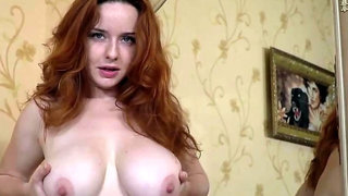 We Are Hairy - Elouisa strips naked and masturbates by a mirror