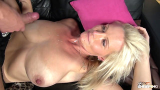 Blonde GILF with Big Natural Tits Wrecked Hard During Casting