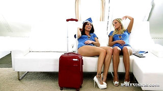 Marry Queen & Eileen Sure are Pussy Hungry Air Hostesses
