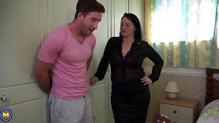 Big breasted British housewife goes wild