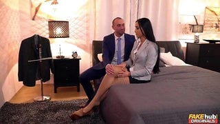 Elegant doll with huge boobs Anna Rose loves his hard dick
