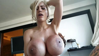Giant Tittied Blonde Beauty Gets Fucked in a Home Video!
