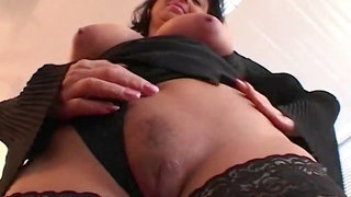 Busty mature wank and screwed with facial
