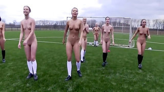 Teens Get Naked Playing Football