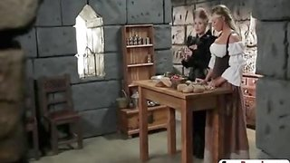 Super hot sluts having great lesbian parody action in a medieval fucking in the castle tower