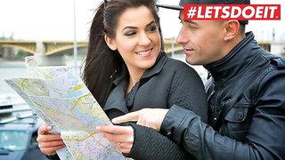 LETSDOEIT Sexy Foreigner Bella Beretta Bangs With Ex Abroad