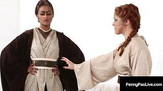 Juicy Jedis Penny Pax & Skin Diamond Play Mind Tricks & Cum!