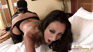 Business woman on the road calls an escort for a black cock