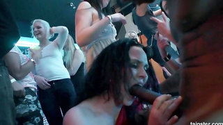 Naughty girls fuck every guy in the club