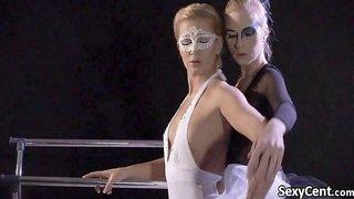 Lesbian ballet dancer having fun