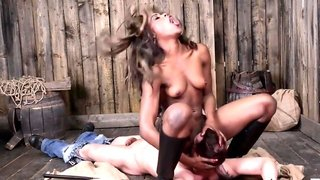 Best ever wife Tiffany Rousso feeds her husband with pussy and big boobs