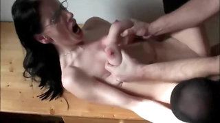 Horny wife gets rough fucked by neighbor