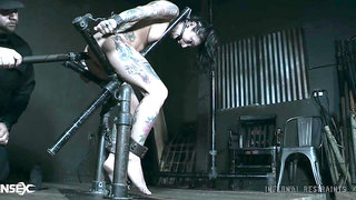 All tattooed and all horny AF bitch Joanna Angel deserves some hard BDSM stuff
