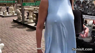 Cheating english mature lady sonia showcases her monster boobs
