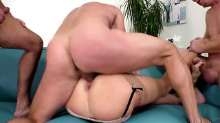 Nympho wife gangbanged by husband and his best friends