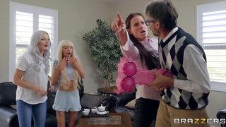 Experienced man surprises juicy blonde with crazy sex
