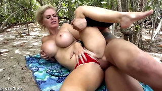 Busty blonde, Casca Akashova had casual sex in the nature and enjoyed it a lot