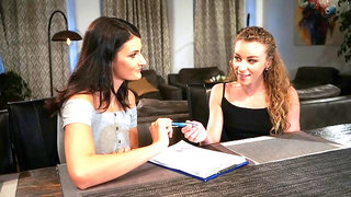 French oral with lesbian tutor