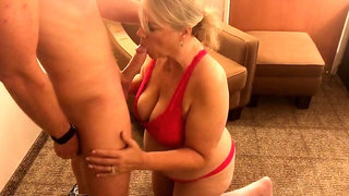 Voluptuous mature wife indulges in intense cuckold fucking