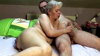 Bedroom sex by mature couple!!